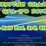 GPA Avrupa Şampiyonası 2-4 Mayıs 2014 Kiev
